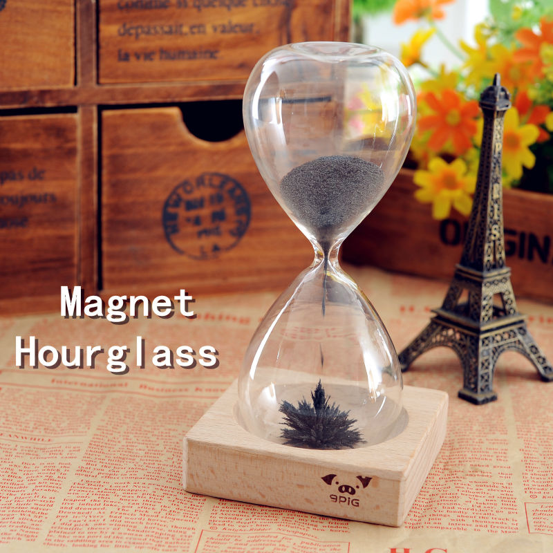 Ct-469 Magnetic Glass Hourglass 3.5minutes Iron Hourglass On The ...