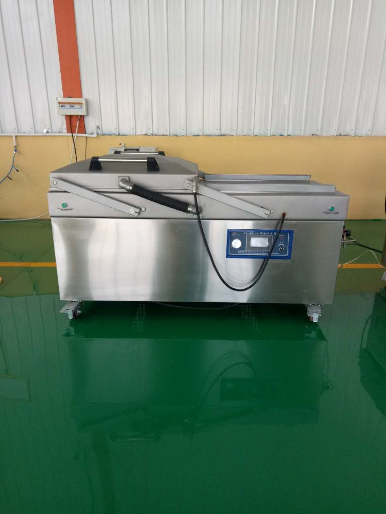 Double chamber big pump vacuum sealing machine DZ600/2SB for pork,beef,becon,vegetable,fish,seafood