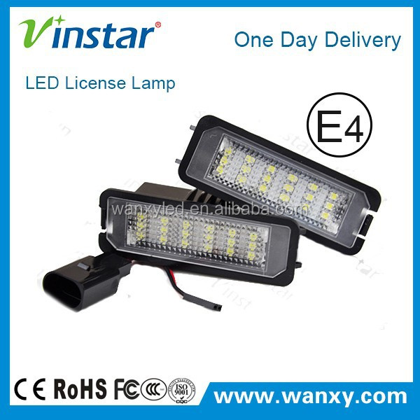 best sale vw golf 4 new led license plate light with canbus