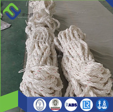 8-strand high strength PP/PES rope ship mooring tails with eye splice wrapped with canvas