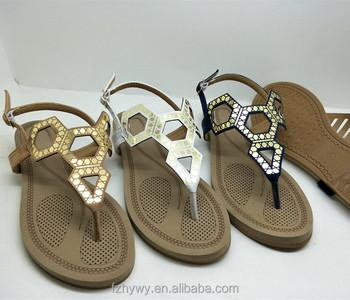 4c0dda17409 2018 China wholesale latest designed holiday flat women shoes sandals