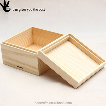 Pan Work Unfinished Flat Pack Pine Wood Gift Boxes With Lids - Buy ...