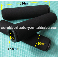 Custom make NBR EPDM foam and stroller handle rubber foam handle grip