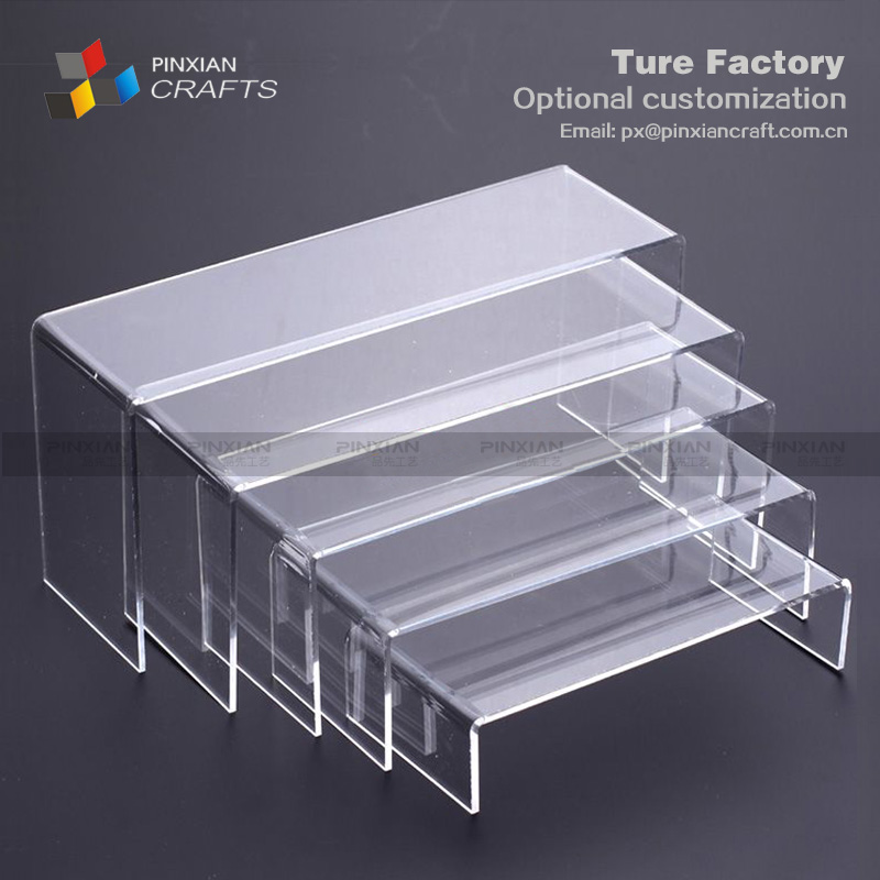 customized U-shaped Five-piece fitted transparent acrylic shoe display