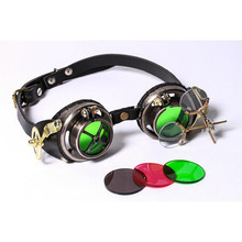 Black/Brown Goggles Wholesale Factory Price Steampunk Gothic Style