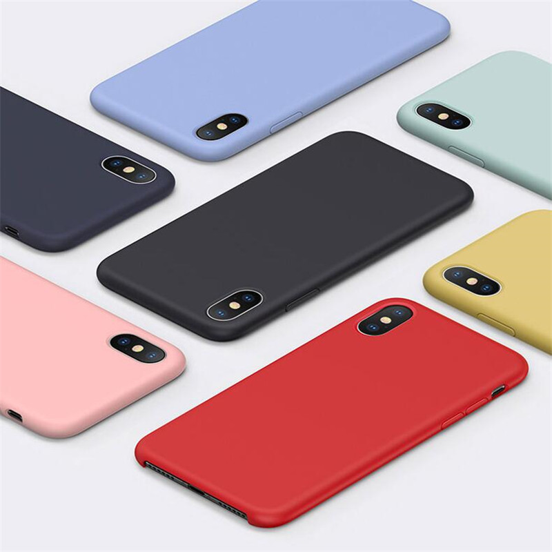 Have LOGO Original Offical Silicone Phone Case For iPhone 7 8 Case For iPhone X XS Max XR <strong>Cover</strong> For iPhone 6 6S Plus 5S SE Cases