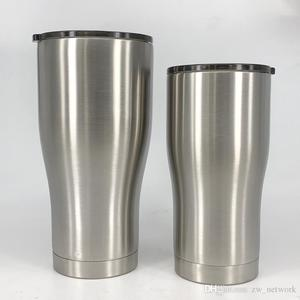 20oz 30oz Stainless Steel tumbler Curve Slim Cup with slid lid vacuum Insulated Car Drinking cup Outdoor Travel mugs
