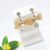 2019 fashion mesh bow pearl earrings ear hook short earrings silver earring pearl earring