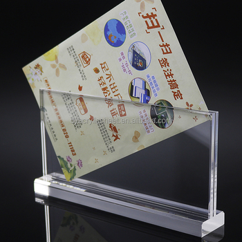 T shaped double side photo/menu/AD display
