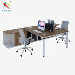 T shaped office workstation for 2 person