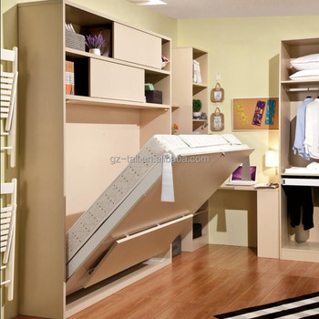 Hot Sale Transformable Furniture Vertical Wall Bed Mechanism Modern Wall  Mounted Bed