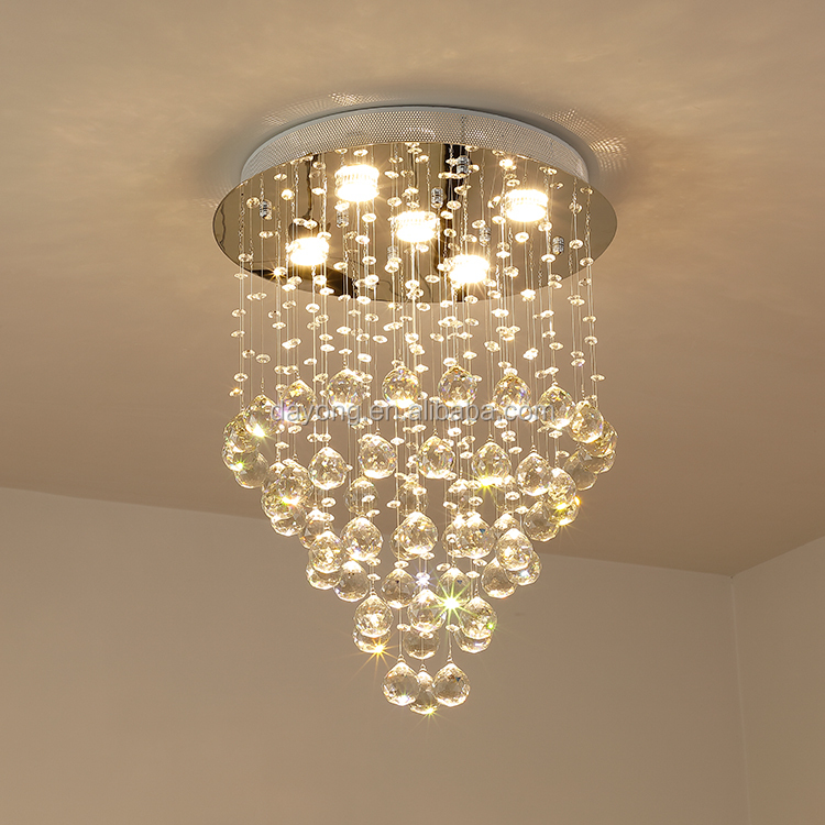 Stainless Steel Modern LED Round Chandelier