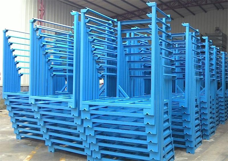 Steel tyre storage racks pallet stacking frames buy for Movable pallets