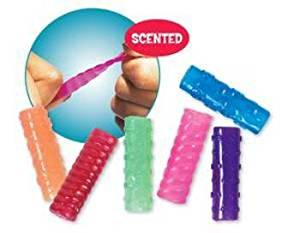 Scent-Sibles Pencil Grip (100 Pieces) - Scent-Sibles Grip ?Fruit Smoothie Scented. ?Assortment Contains Red, Teal, Blue, Pink, Orange And Purple.