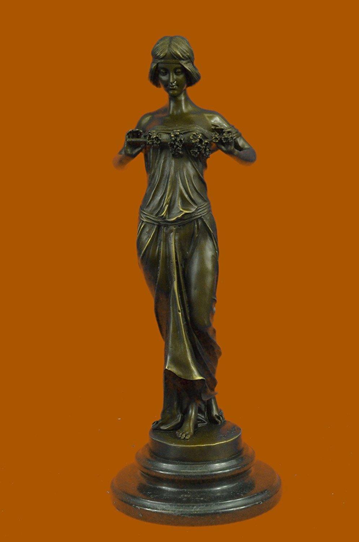 "...Handmade...European Bronze Sculpture Art Deco ""Nymph Of The Woods"" Pittaluga Signed Art Nouveau Women (EP-893-UK) Bronze Sculpture Statues Figurine Nude Office & Home Décor Collectibles Sale Deal"