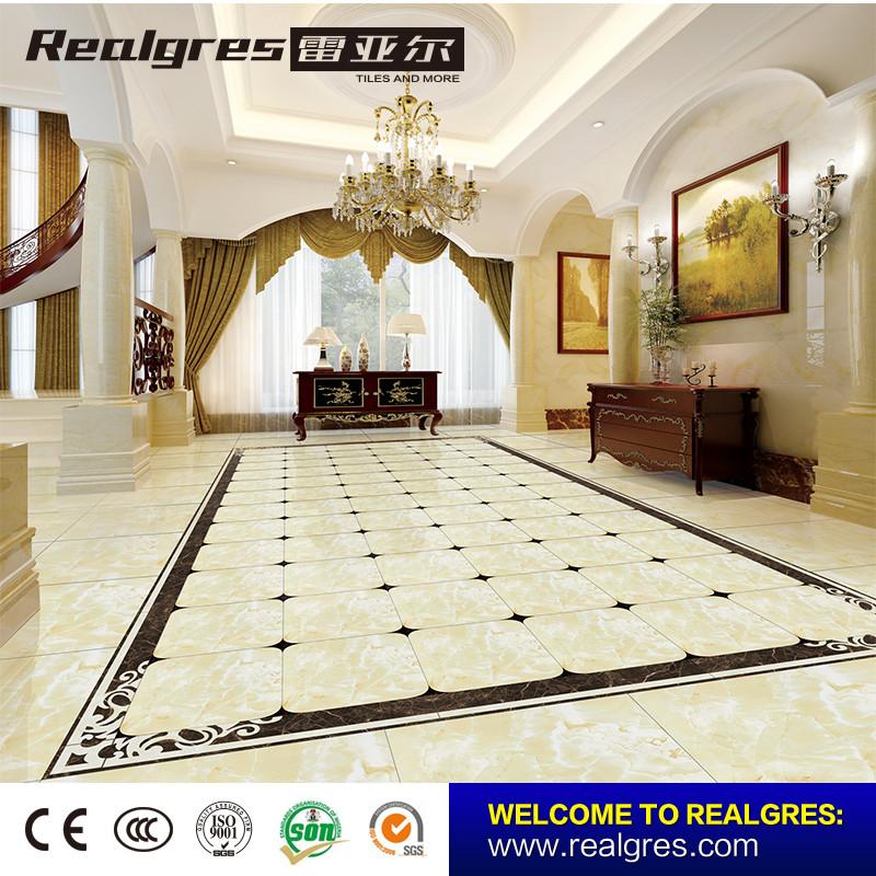 Polished Glazed Porcelain Tile Floor