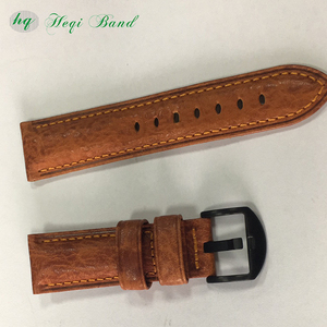 Wholesale Factory Price Handmade Brown Women Leather Watch Strap Watchband