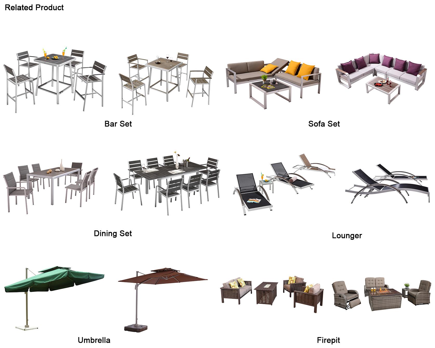 Sectio<em></em>nal Sofa  Patio Modular Aluminum Garden Outdoor Furniture Set For Sale