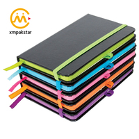 Custom printed colorful PU leather notebook notepad diary note book with elastic band