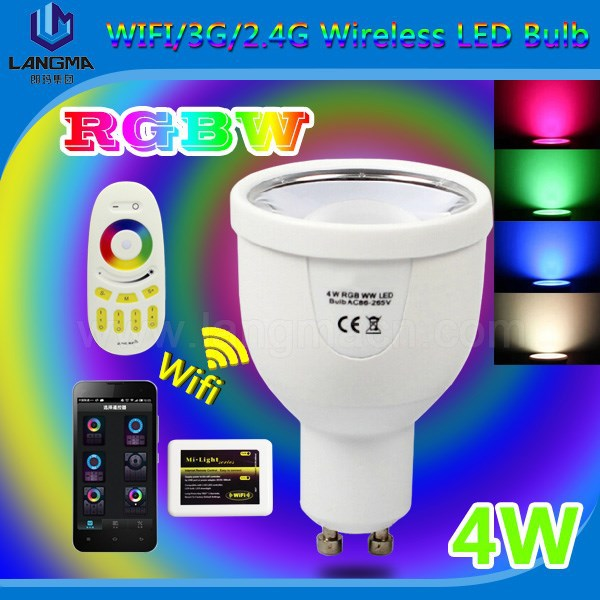 Mi Light Factory Sale Rgb+w 4w Color-changing Bulbs Outdoor Color ...