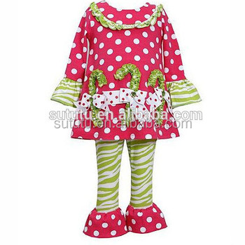 Girls' Christmas clothing products cute popular outfits girls boutique  clothing baby clothes China factory wholesale - Girls' Christmas Clothing Products Cute Popular Outfits Girls