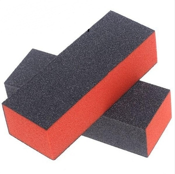 3 Sided Black Sand Painting Mini Nail Buffer Block Abrasive Blocks