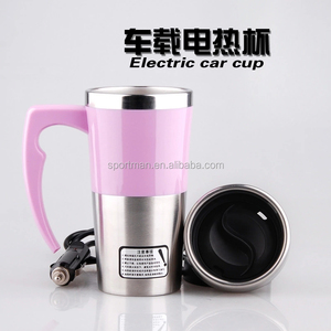 12V 350ML Car Travel Auto Stainless Steel Heating Electric Coffee Tea Cup Water Boiling Cup