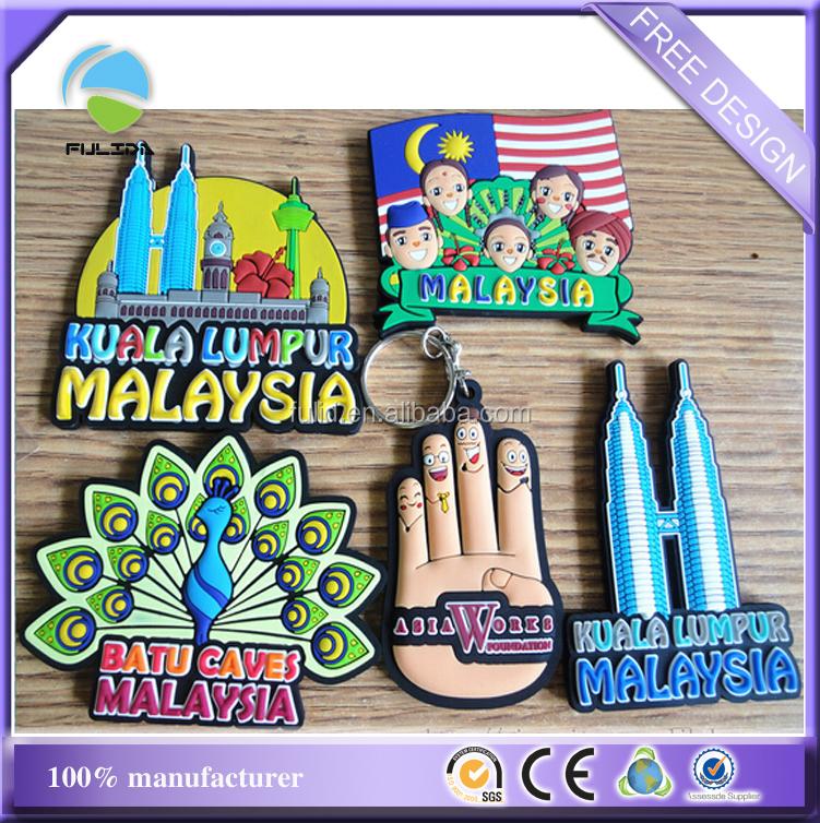 Custom kuala lumpur malaysia rubber souvenir refrigerator for 1 door fridge malaysia