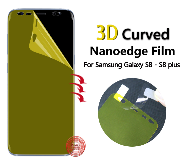 Hot Sale Nano Edge Tpu Screen Guard 3D Screen Protector For Samsung Galaxy S8 S8 plus