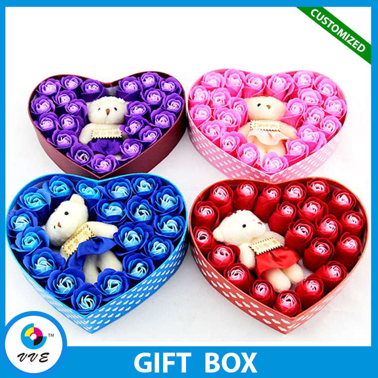 Heart Shape Gift Box With Clear Pvc Window For Flower Shops,Gift Box For Flower Package