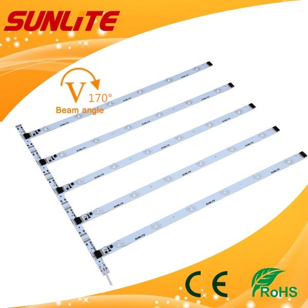 LED Lens light Bar lighting pole SMD2835 TV Backlight 5chips aluminum PCB CE ROHS IP33 12V voltage 5 watts