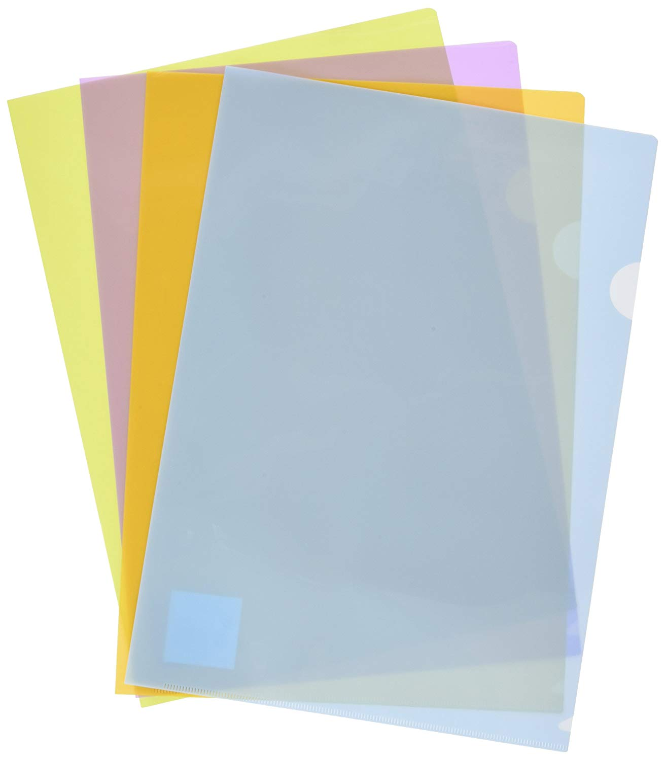 5 STAR 429285 A4 Polypropylene Plastic Folder with Thumb Hole - Assorted Colours (Pack of 10)