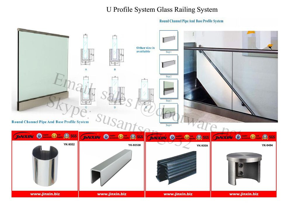 Glass Deck Railing- Stainless Steel Base Shoe