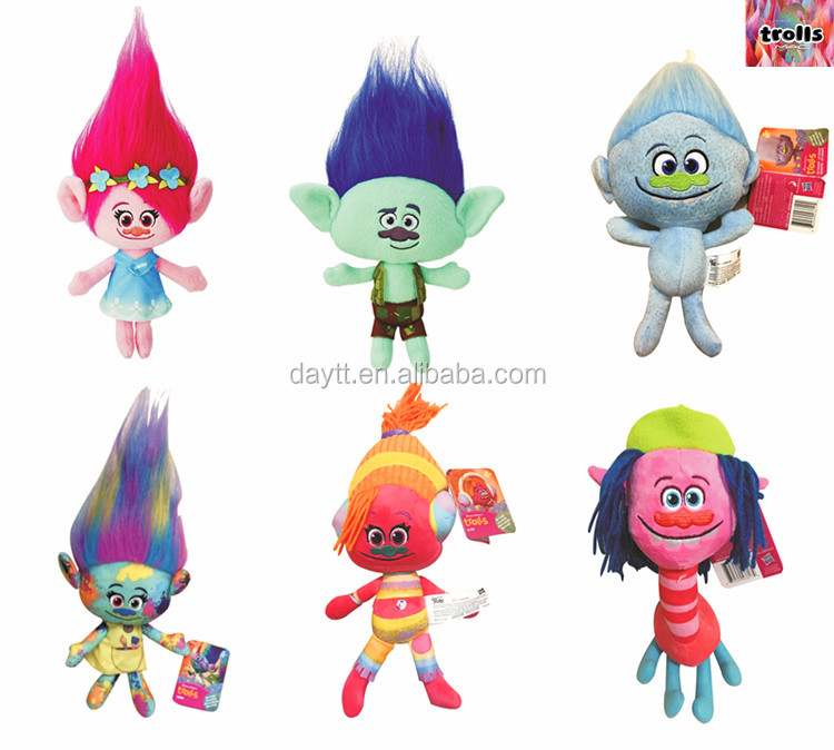 Newest Movie Action Figure Toy Trolls Play Set Cartoon Figure Trolls 23cm/36cm Blancpie <strong>plush</strong>