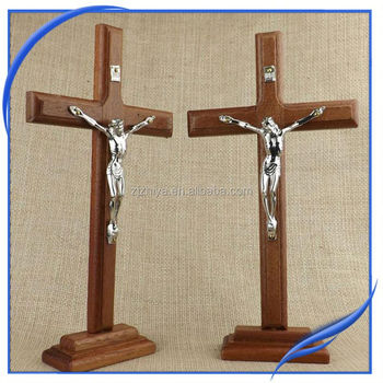 Factory price wholesale large decorative religious wooden for Cheap wooden crosses for crafts