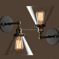 Home decoration Sconce Light American retro creative glass vintage wall lamp