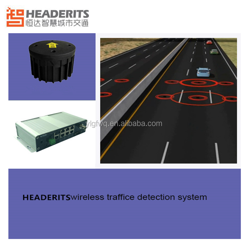 Wireless magnetometer technology vehicle presence detection sensor for traffic management