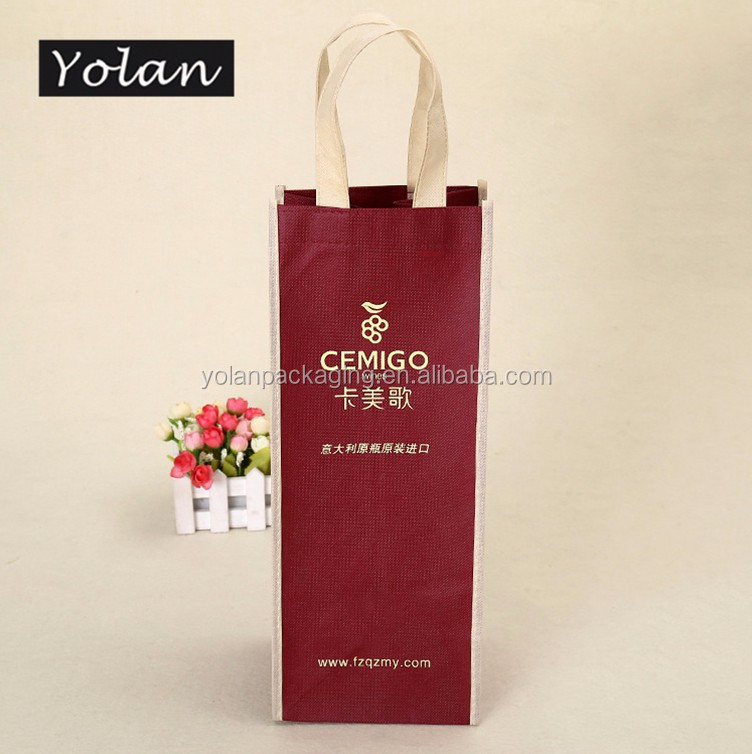 Top quality non woven bag Yiwu non woven wine bag manufacturer