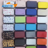 Hard cover luggage style cosmetic pouch
