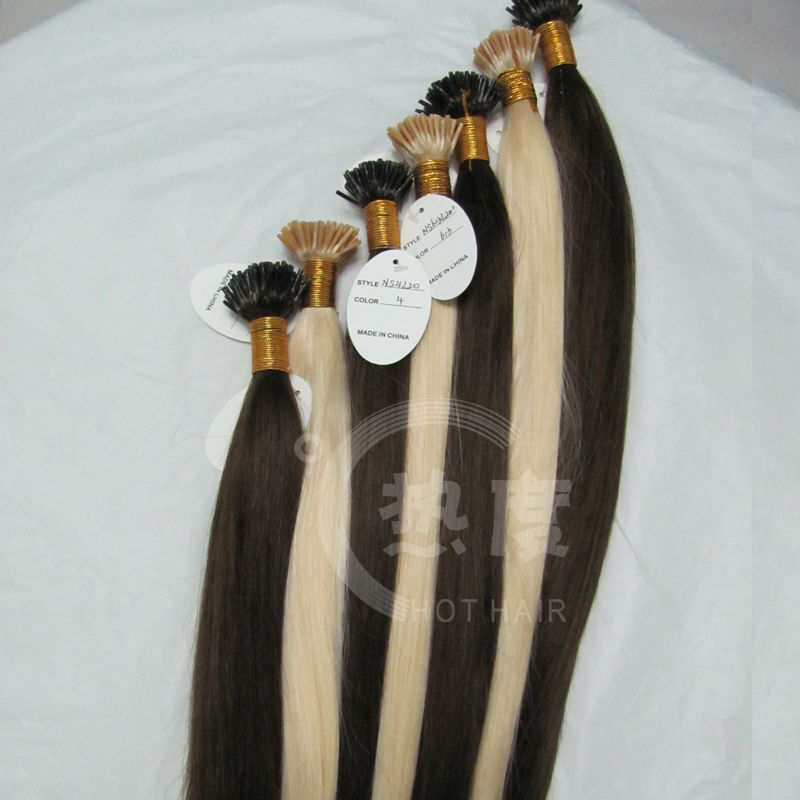 Prebonded Hair,Hair Weave With Colored Tips,Hot Beauty Top Quality I Tip Hair Extension