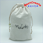 Free samples nice unusual gift bags drawstring flax cotton linen fancy shoe dust pouch