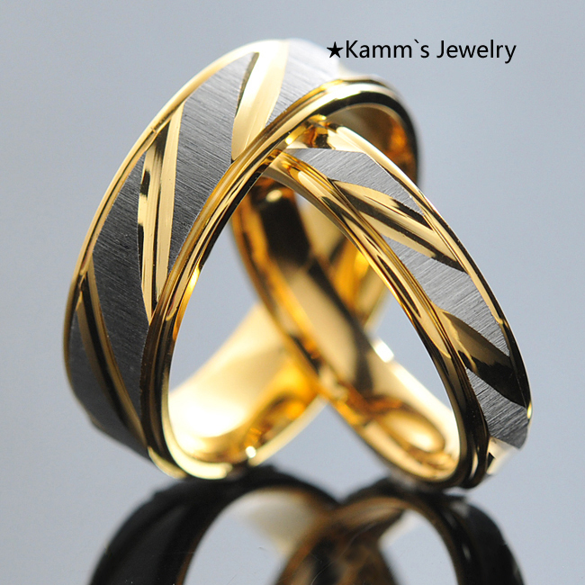 1 Piece Stainless Steel Couples Rings for Men Women Gold Wedding Bands Engagement Anniversary Lovers his