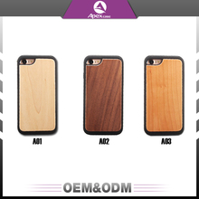 2017 custom wood pattern smart mobile phone covers wood phone case for iphone 7