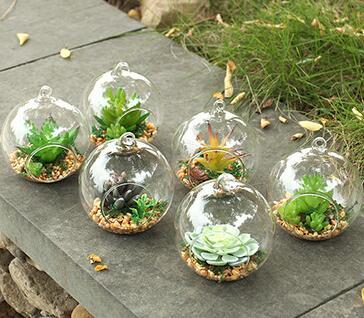 larme conception suspendu verre faux succulent conteneur vases plante artificielle terrarium. Black Bedroom Furniture Sets. Home Design Ideas
