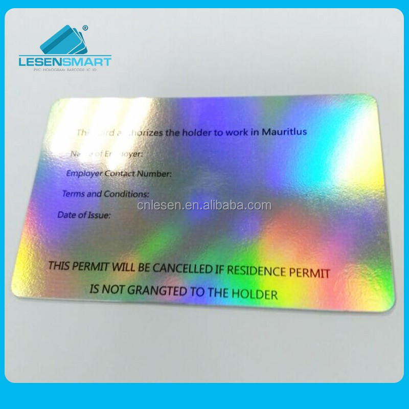 Customized Printing Plastic Color Changing Business Cards Product On