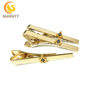New High Quality Copper Cheap Custom Gold Plated Metal Tie Clip For Men Accessory