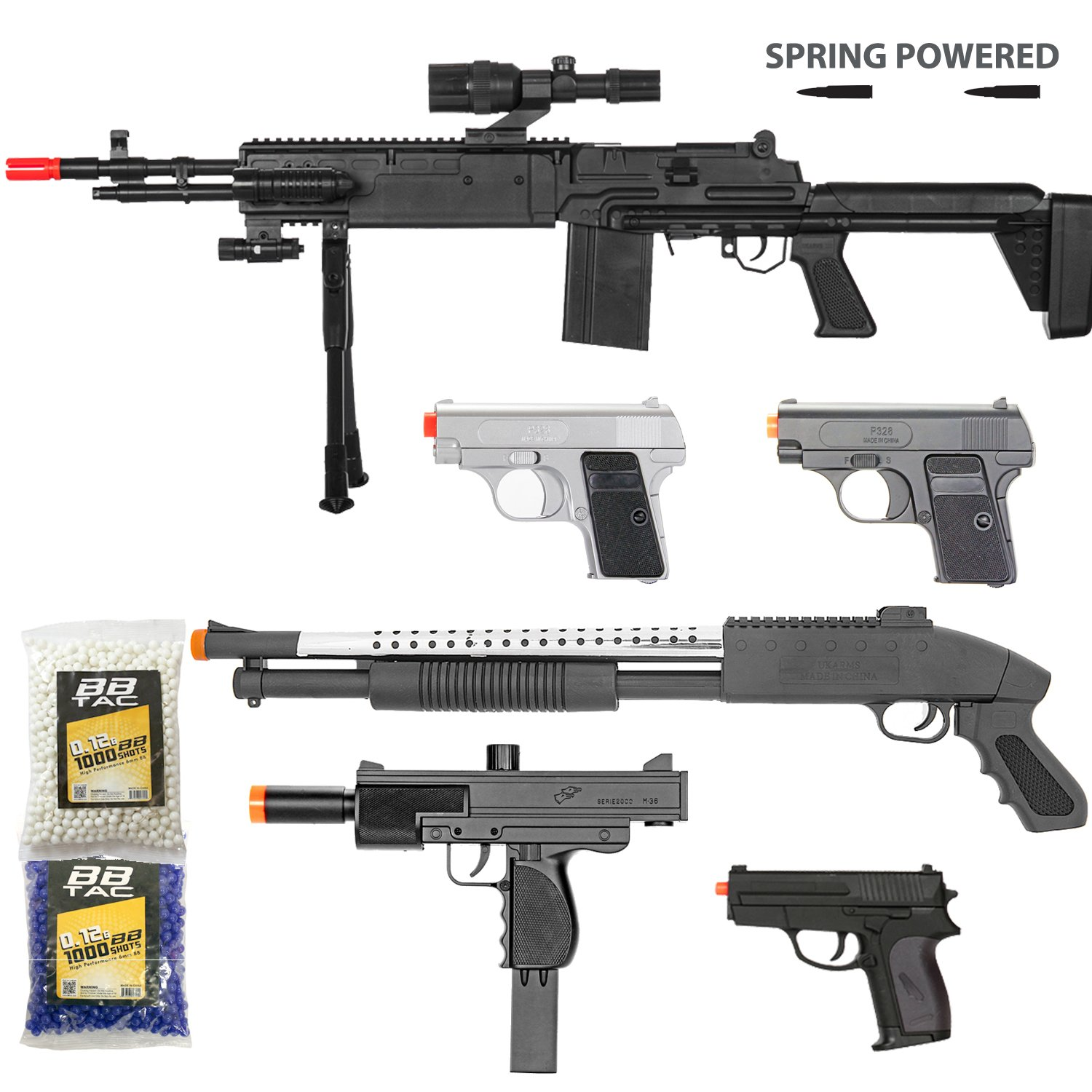Buy BBTac Airsoft Gun Package - Rebels Collection of 5 Airsoft Guns