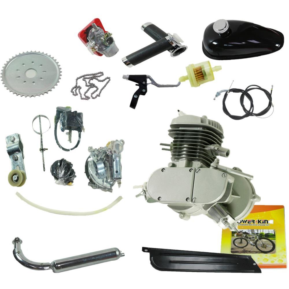 80CC GAS Engine Motor Bicycle 2 Stroke Gasoline Engine Kit