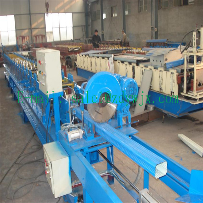 Chinese supplier aluminium downspout roll forming machine running steadily roll former