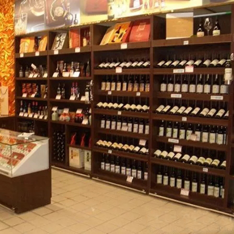 6da6238f92 Hot wall mounted wine rack wood display stand and liquor cabinet for wine  store